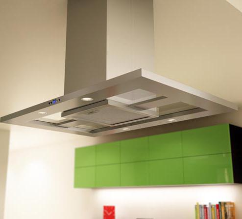 """Essentials Collection- Europa Island 42"""" Island Range Hood  by Zephyr at Furniture and ApplianceMart"""