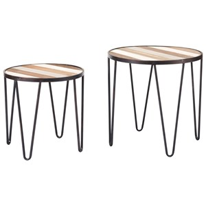 Set of 2 Multicolor Tray Tables