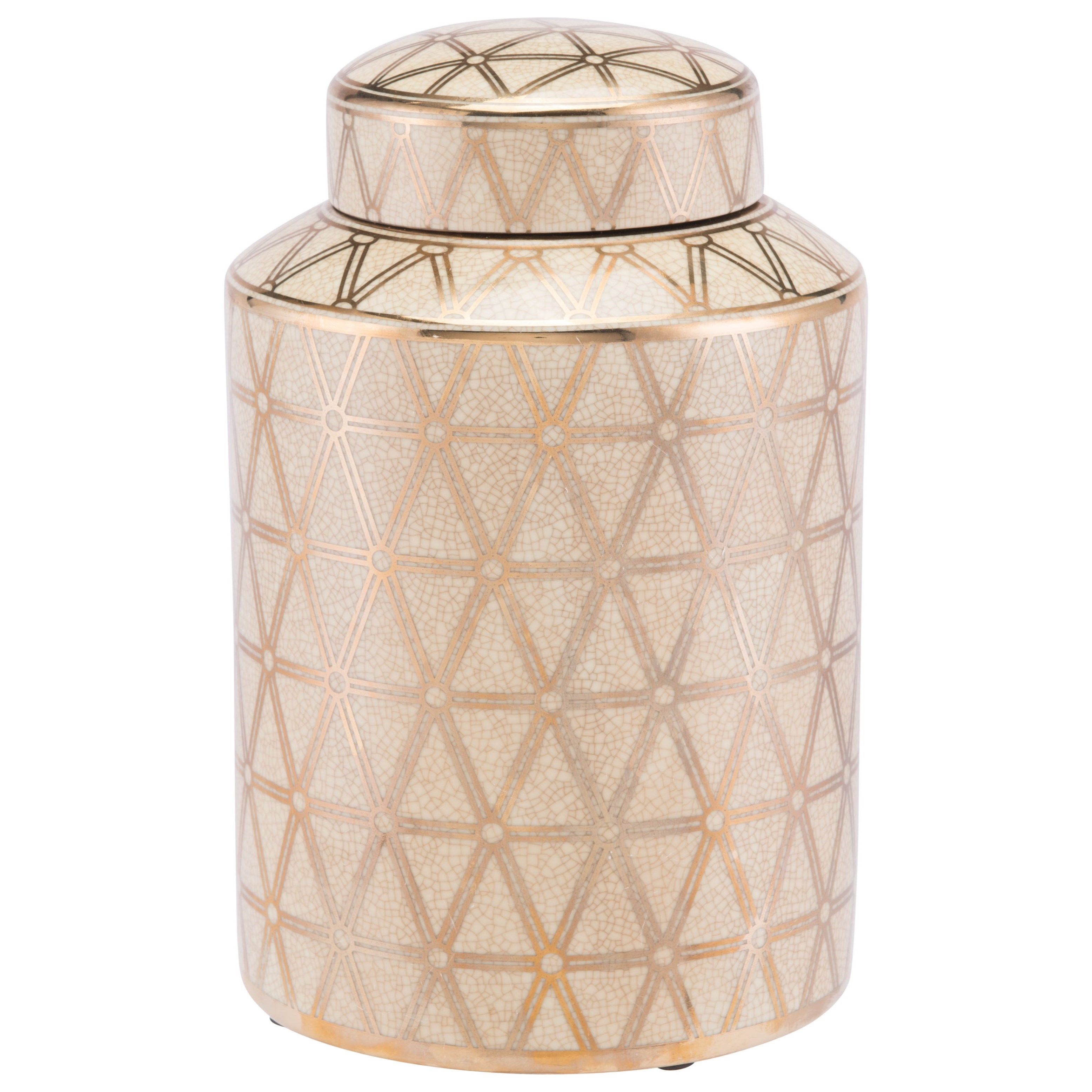 Bottles and Jars Link Covered Jar Small by Zuo at Nassau Furniture and Mattress