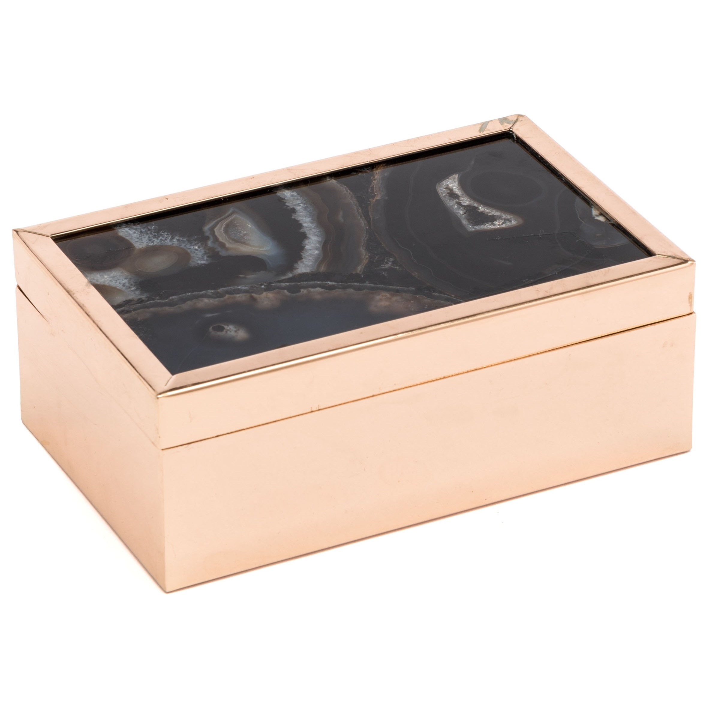 Boxes, Bowls and Trays Black Stone Box Small by Zuo at Nassau Furniture and Mattress