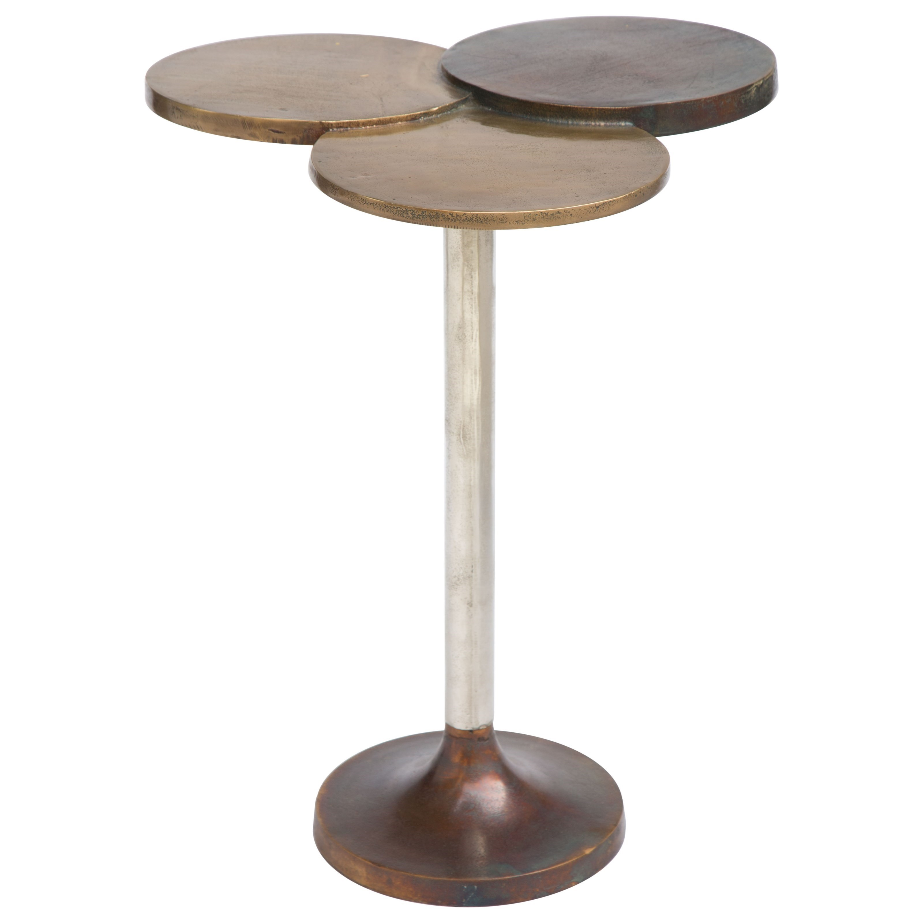 Dundee Antique Brass Accent Table by Zuo at Nassau Furniture and Mattress