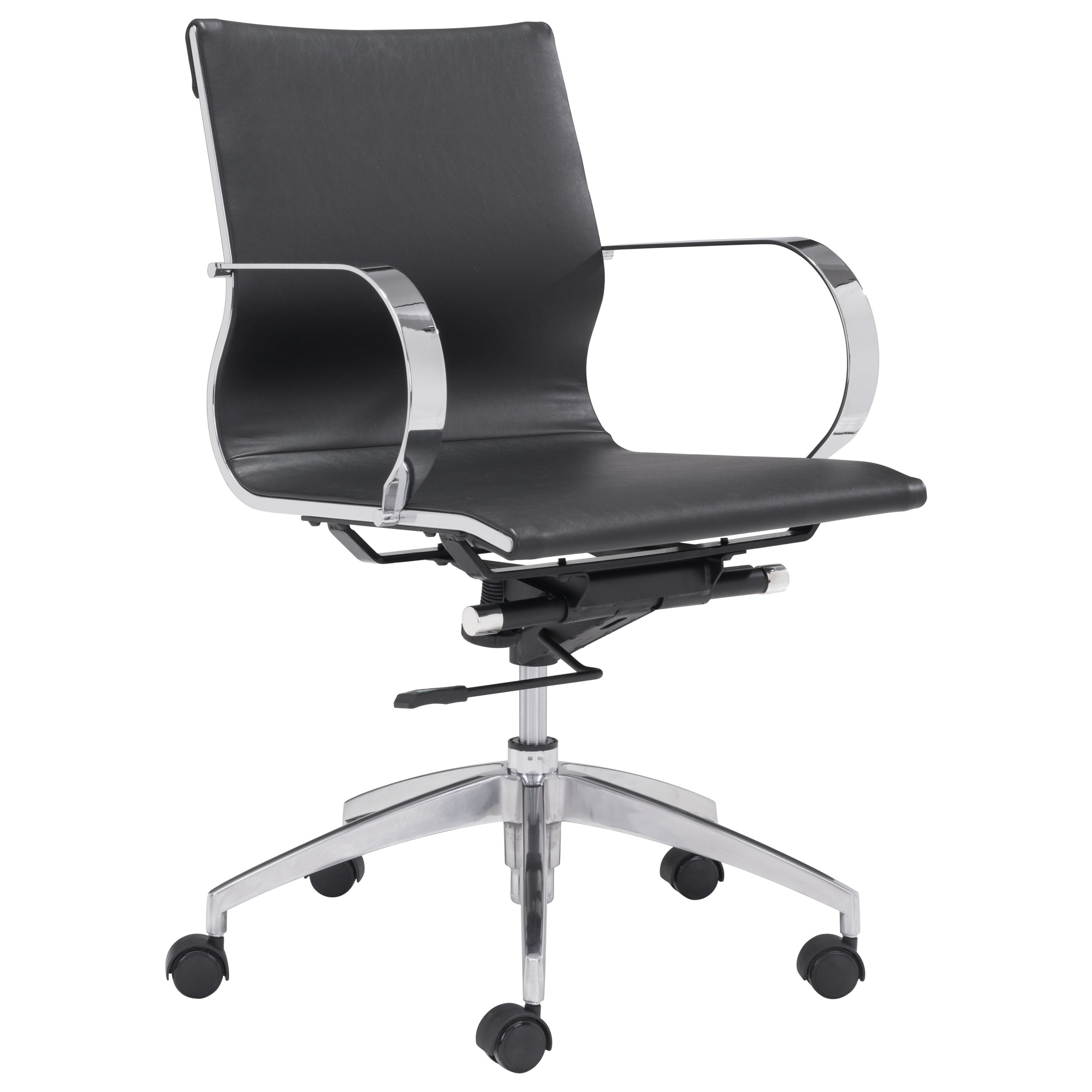 Glider Low Back Office Chair by Zuo at Nassau Furniture and Mattress