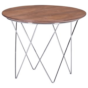 Chrome Leg Side Table