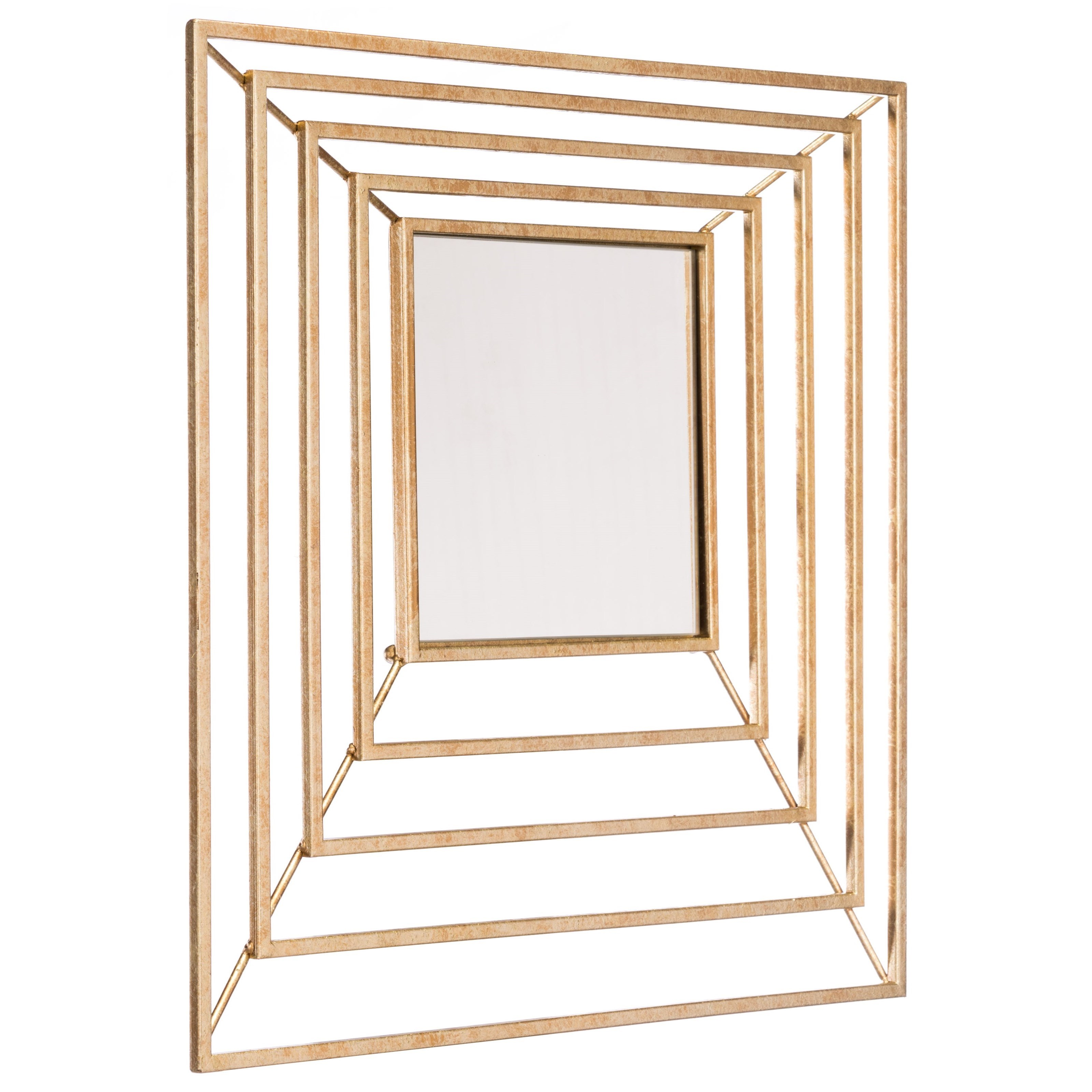 Mirrors Dimension Gold Mirror by Zuo at Nassau Furniture and Mattress
