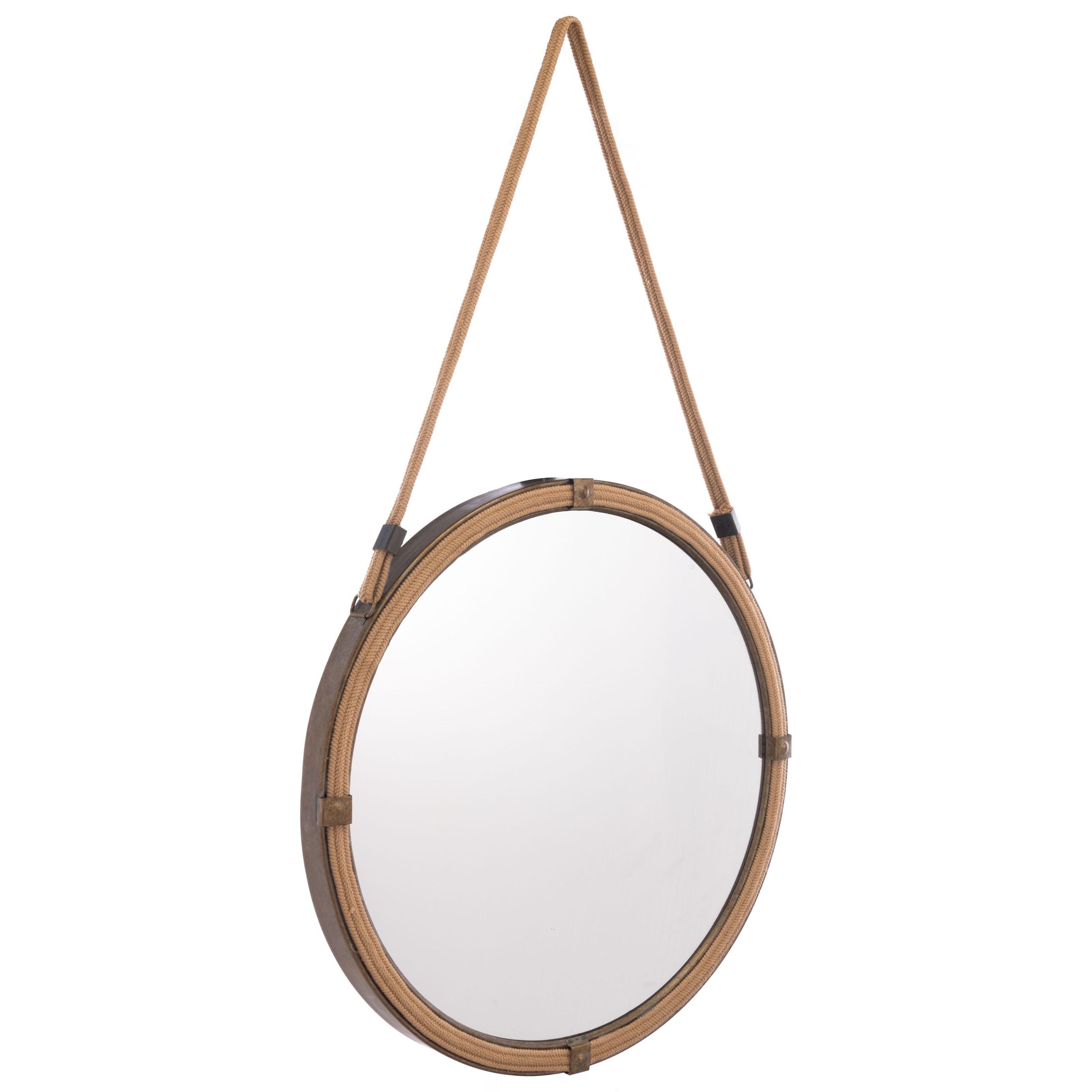 Mirrors Cuerda Mirror by Zuo at Nassau Furniture and Mattress