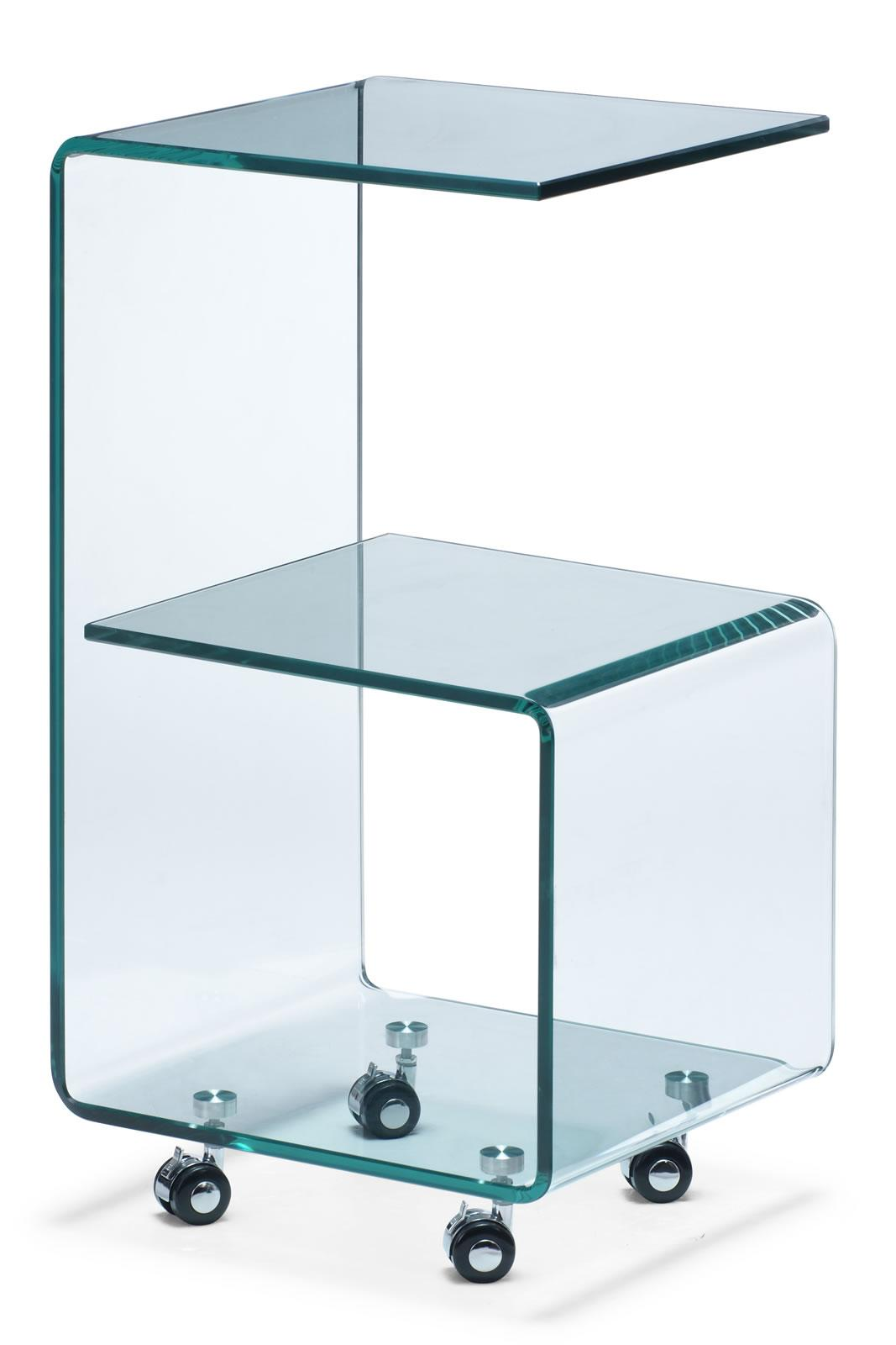 Occasional Collection Trek Glass Side Table by Zuo at Nassau Furniture and Mattress