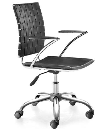 Office Collection Criss Cross Leatherette Office Chair by Zuo at Nassau Furniture and Mattress
