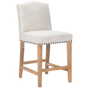Upholstered Counter Chair With Nailhead Trim