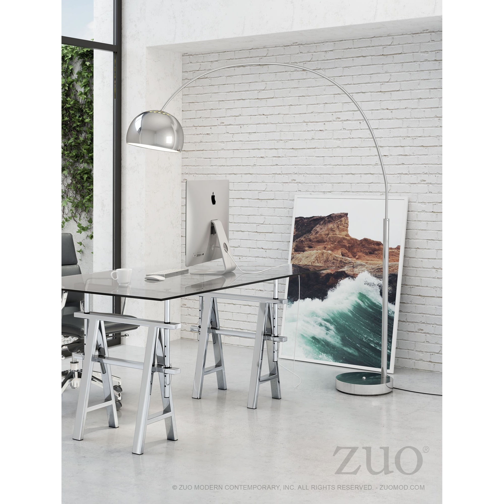 Pure Lighting Galactic Floor Lamp by Zuo at Nassau Furniture and Mattress