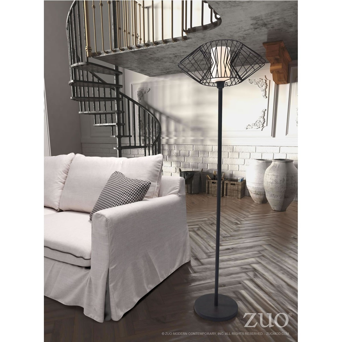 Pure Lighting Tumble Floor Lamp by Zuo at Nassau Furniture and Mattress