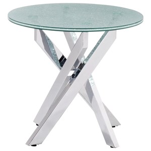 Crackled Glass Side Table