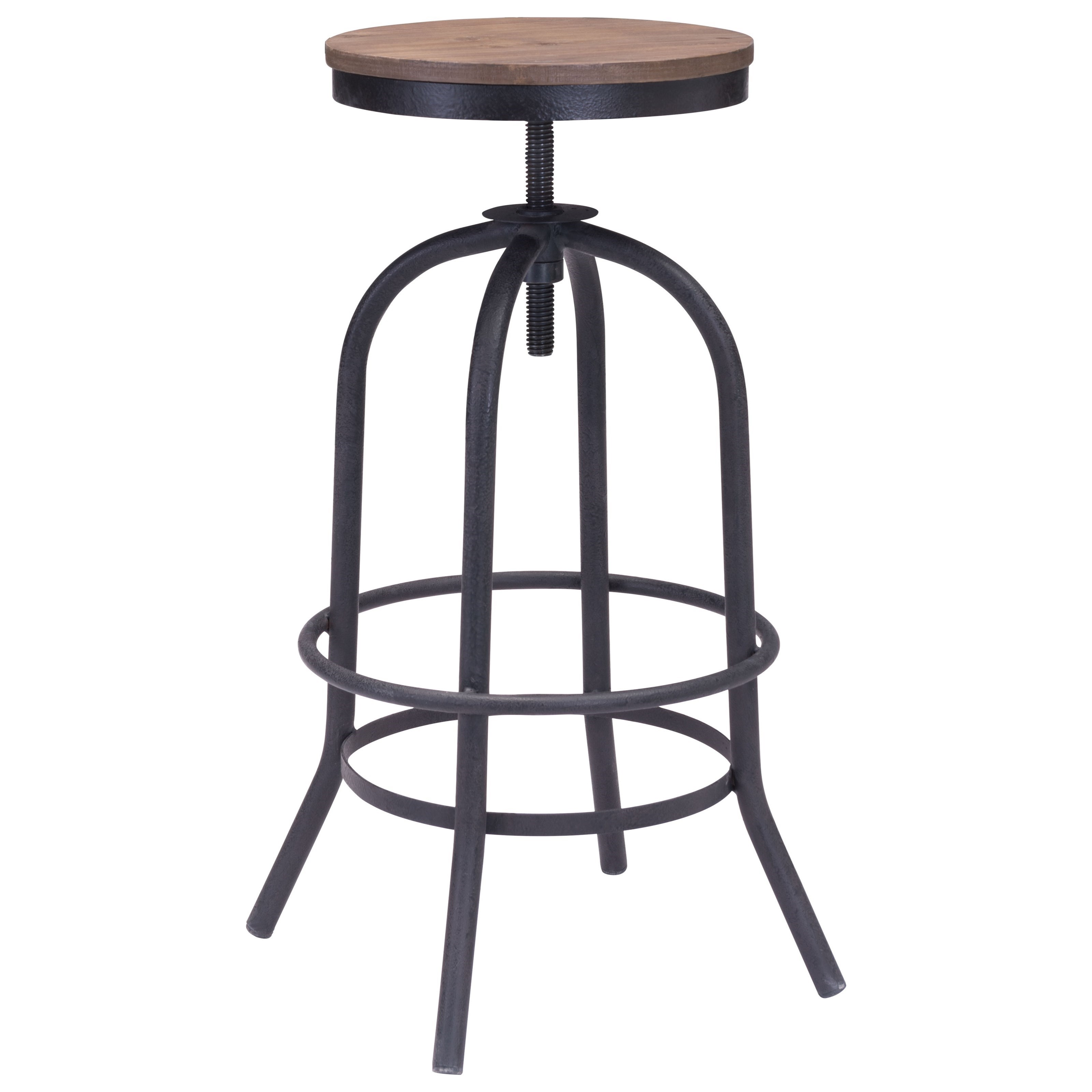 Twin Peaks Barstool by Zuo at Nassau Furniture and Mattress