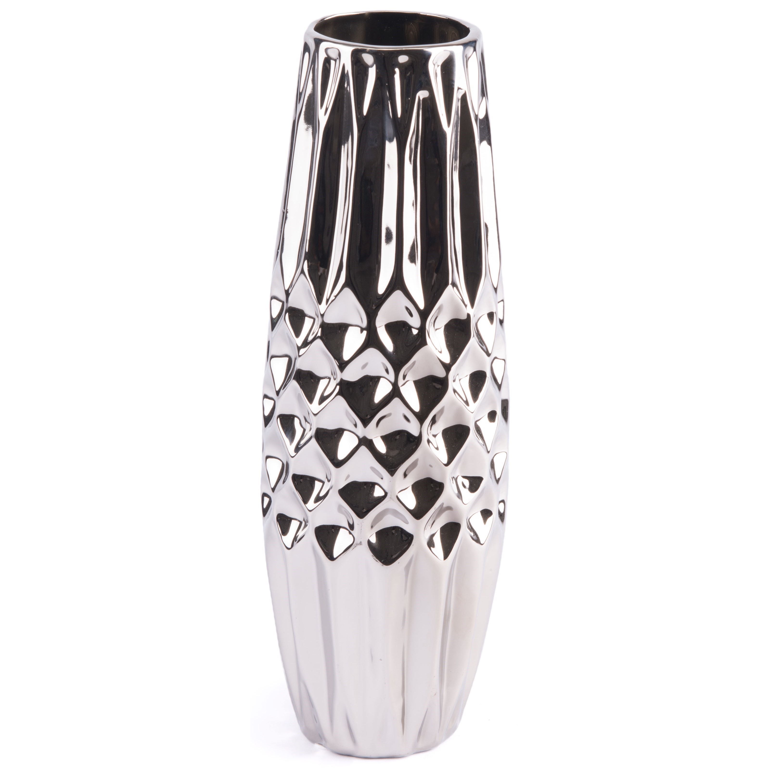Vases Silver Medium Vase by Zuo at Nassau Furniture and Mattress