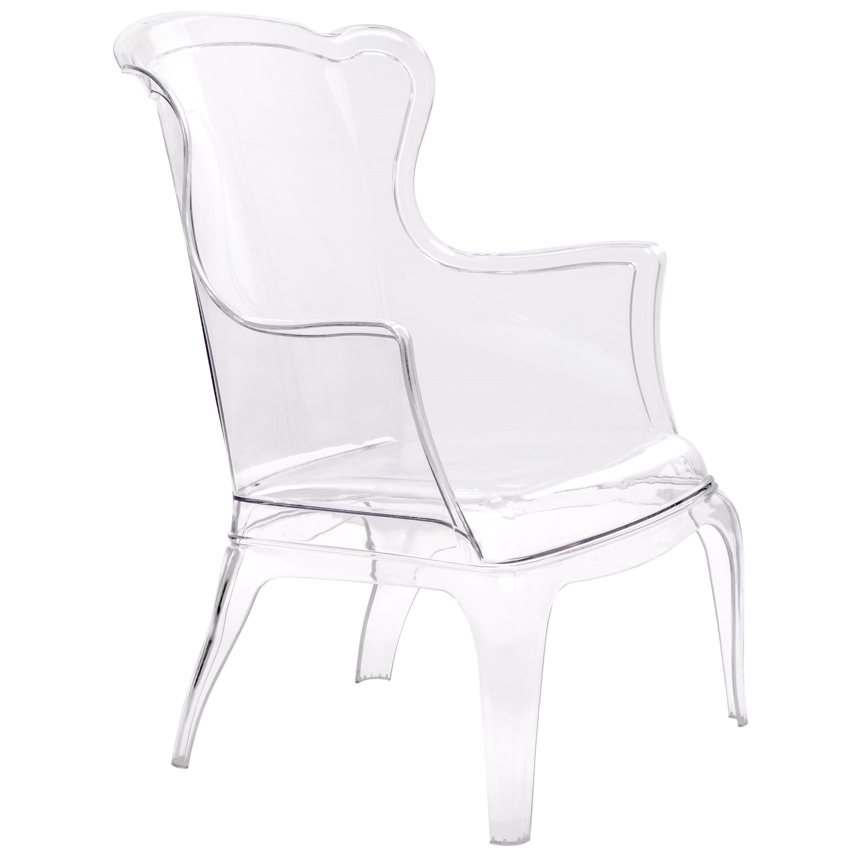 Vision Transparent Chair by Zuo at Nassau Furniture and Mattress
