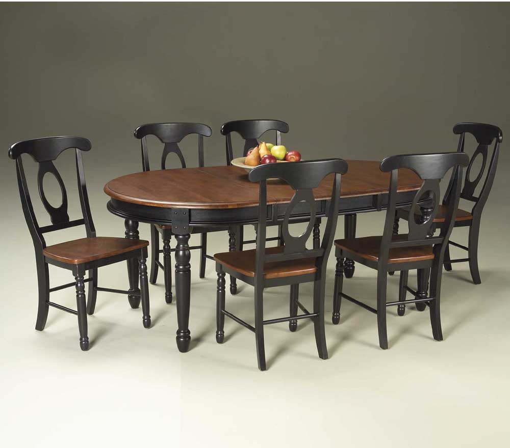 aamerica british isles 7 piece oval leg table with chairs dinette depot dining 7 or more. Black Bedroom Furniture Sets. Home Design Ideas