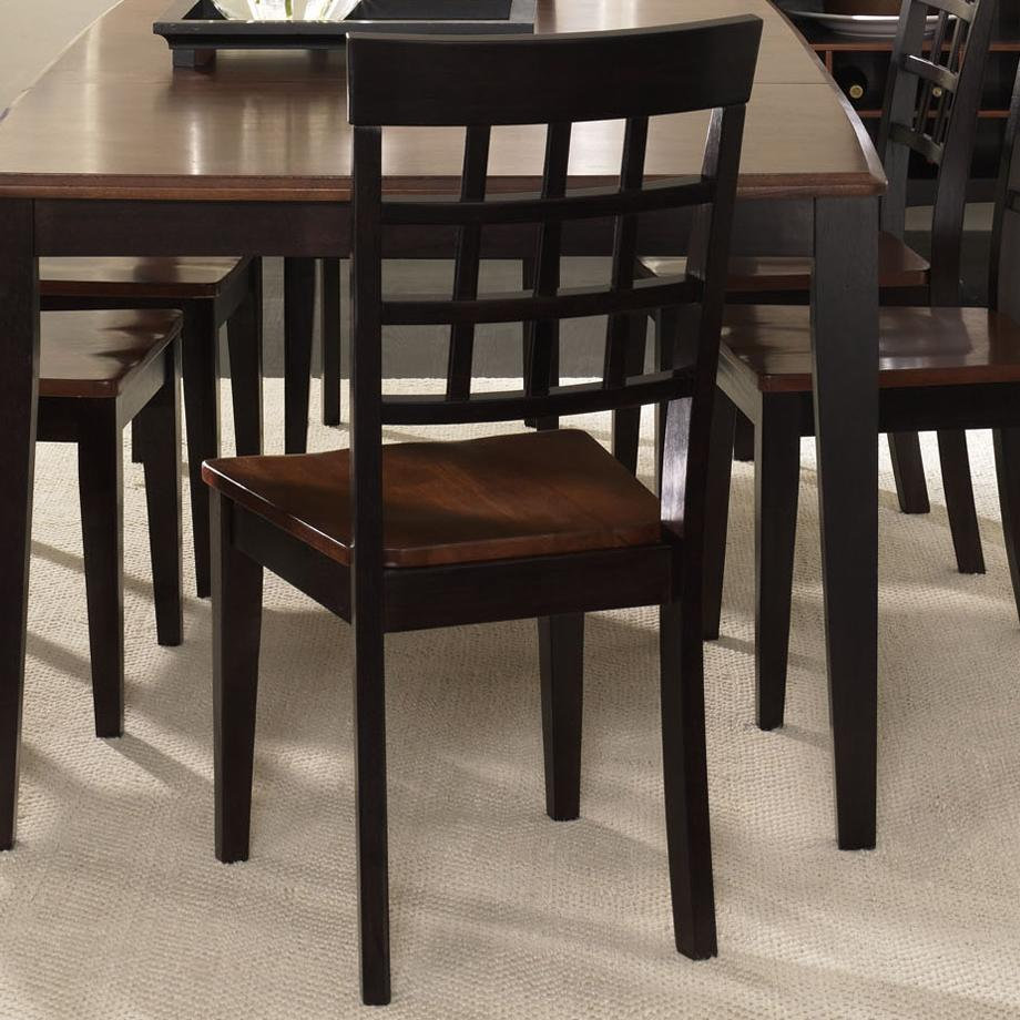 point grid back side chair value city furniture dining side chairs