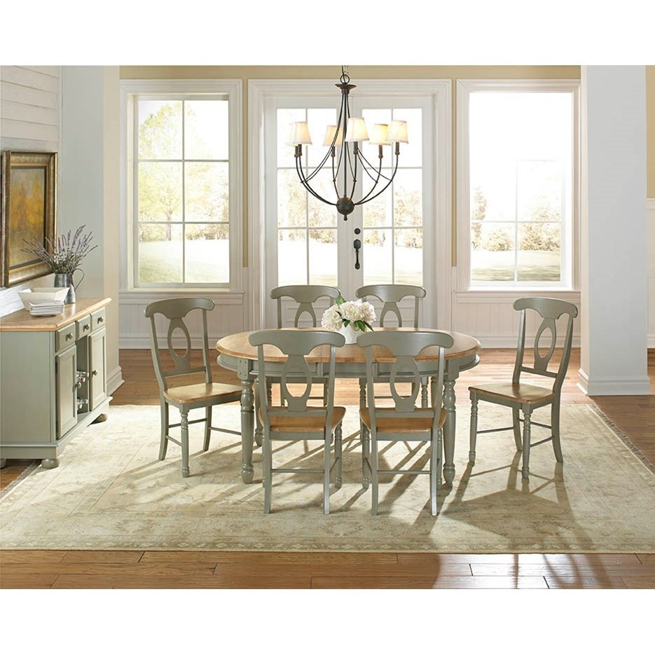 Aamerica british isles casual dining room group mueller for Casual dining room