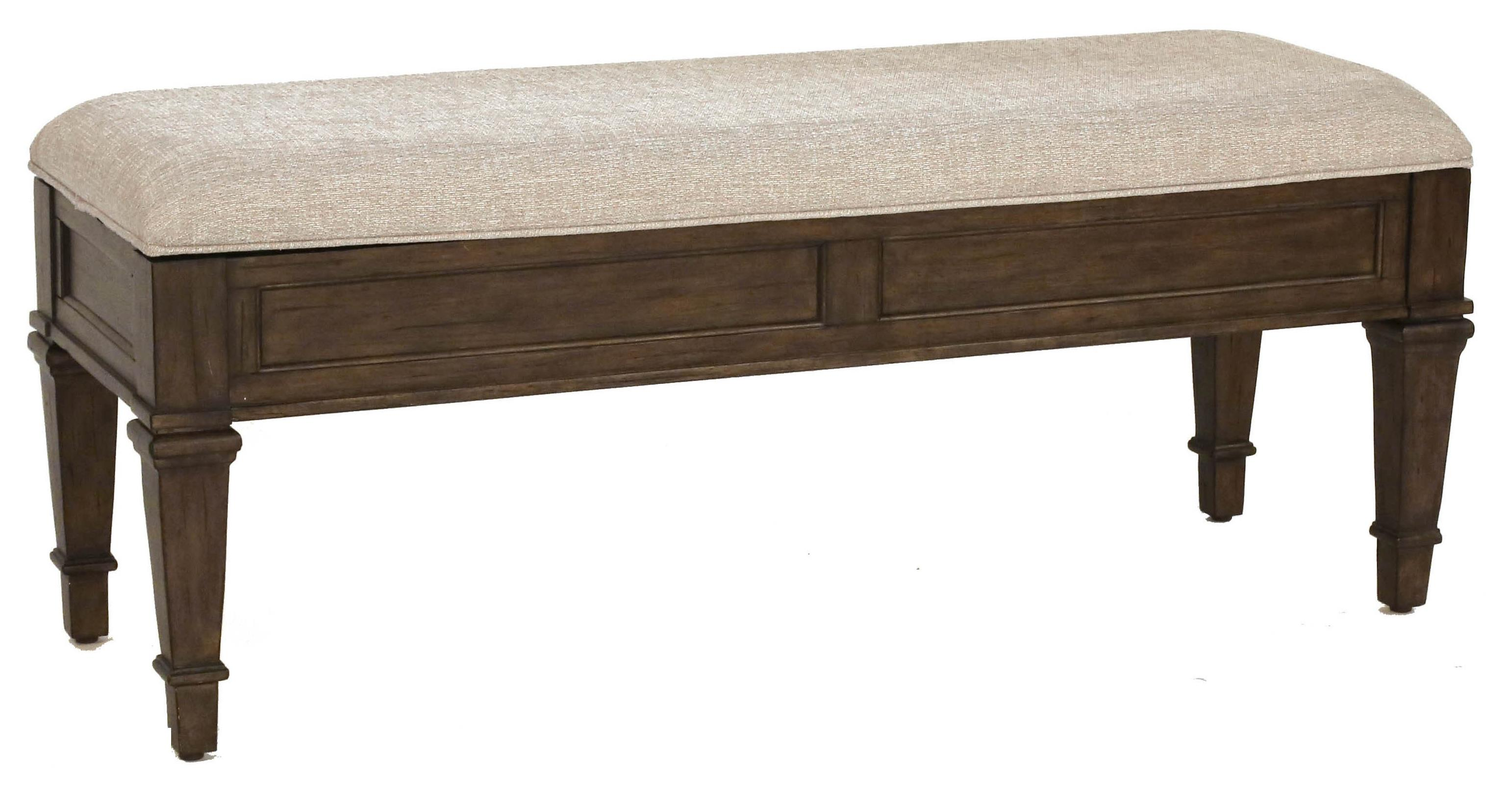 Aamerica Gallatin Solid Mahogany Upholstered Storage Bench