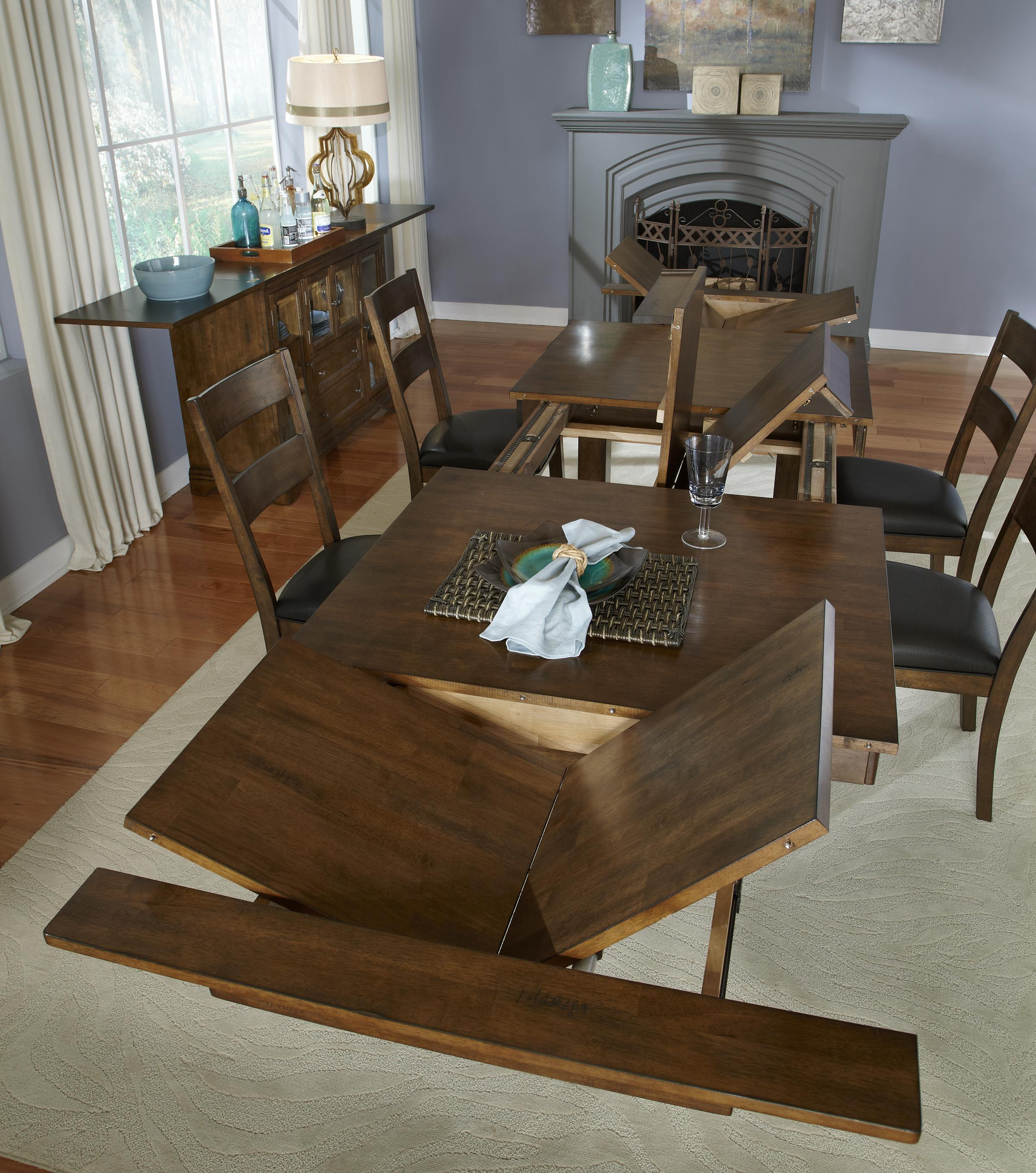 Aamerica mariposa 11 piece trestle table and slatback for 11 piece dining table
