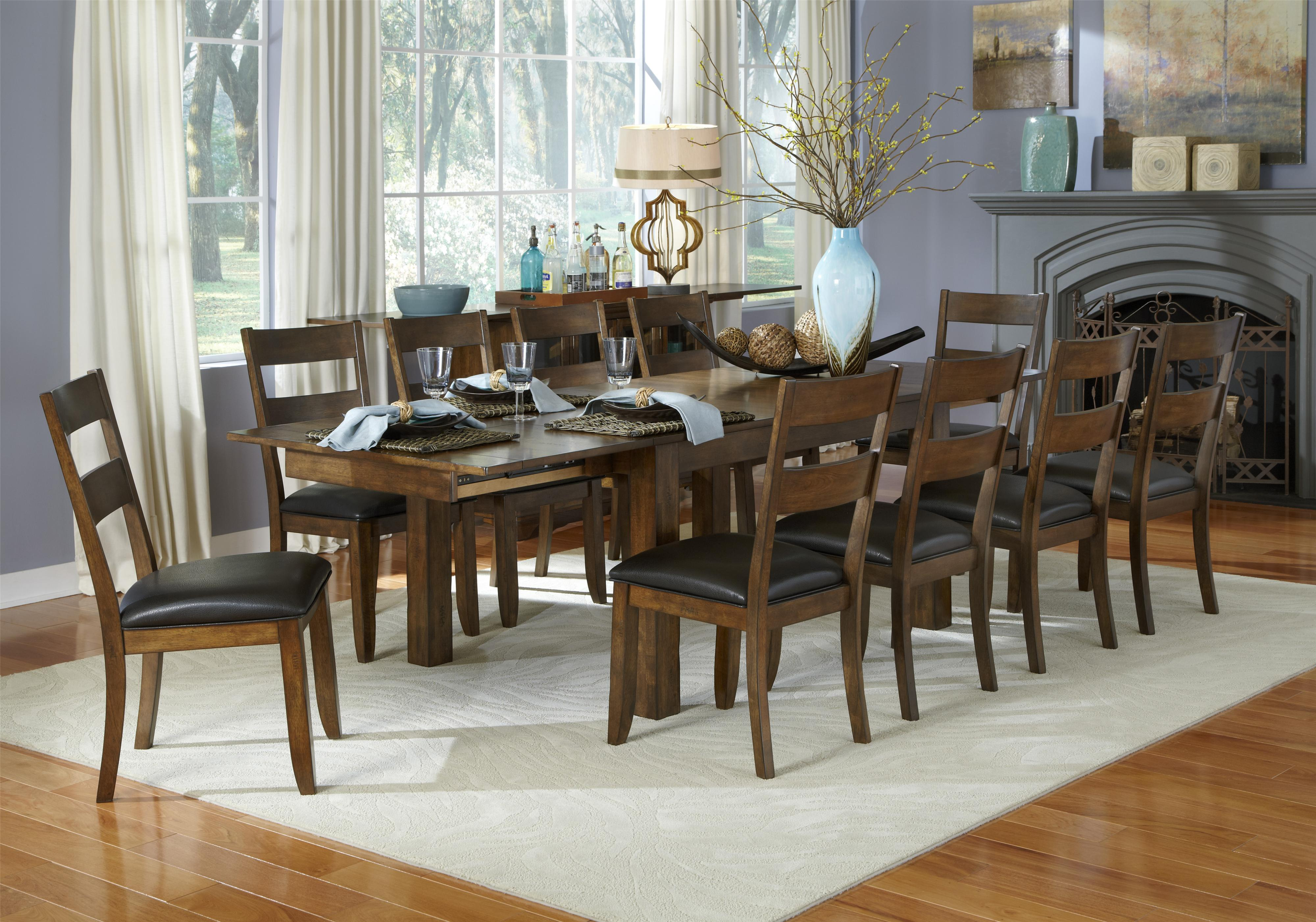 Aamerica mariposa 11 piece table and ladderback chairs set for 11 piece dining table set