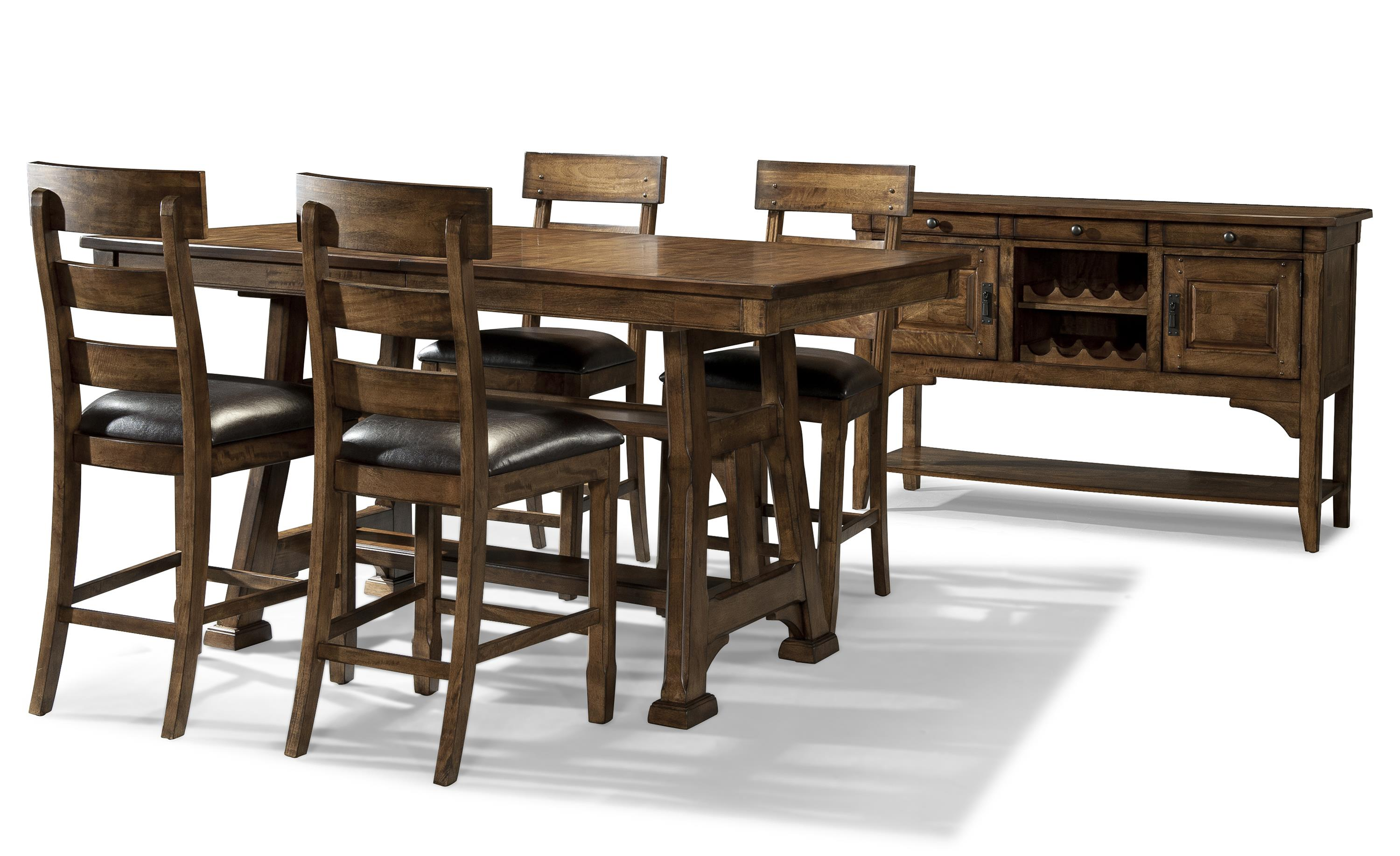 Aamerica ozark casual gathering height dining room group for Wayside furniture