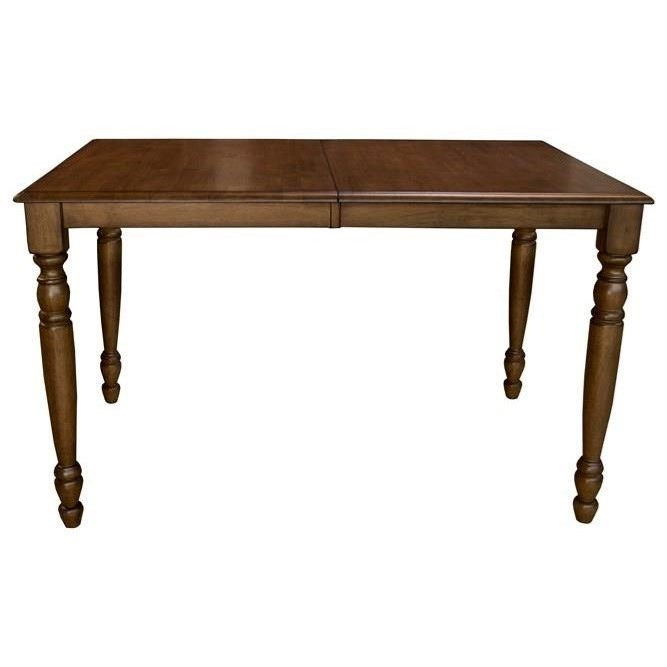 Aamerica roanoke counter height dining leg table with for Table 6 kitchen and bar canton ohio