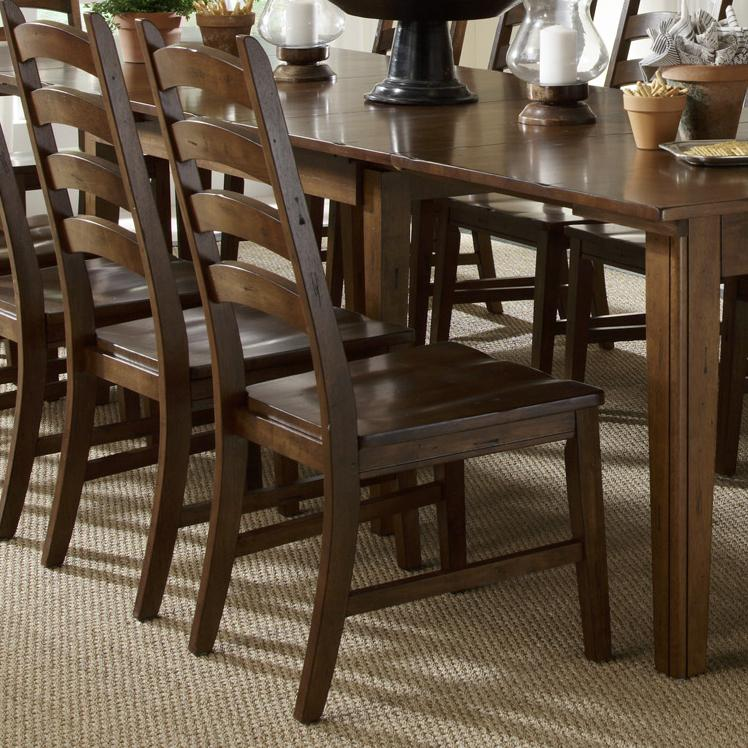 Aamerica Toluca Solid Wood Ladderback Side Chair Rife 39 S Home Furniture Dining Side Chairs