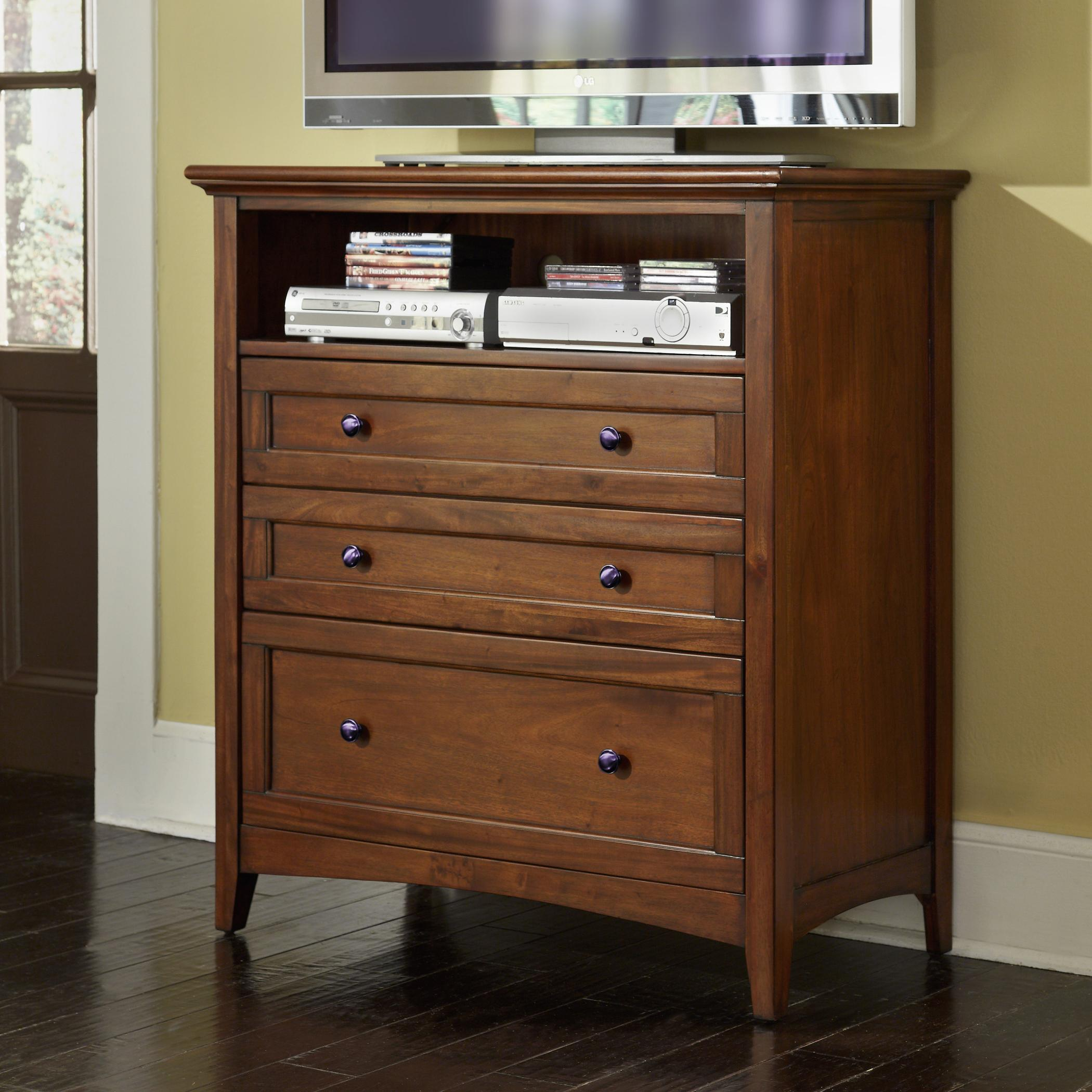 Aamerica westlake transitional 3 drawer media chest with for Wayside furniture