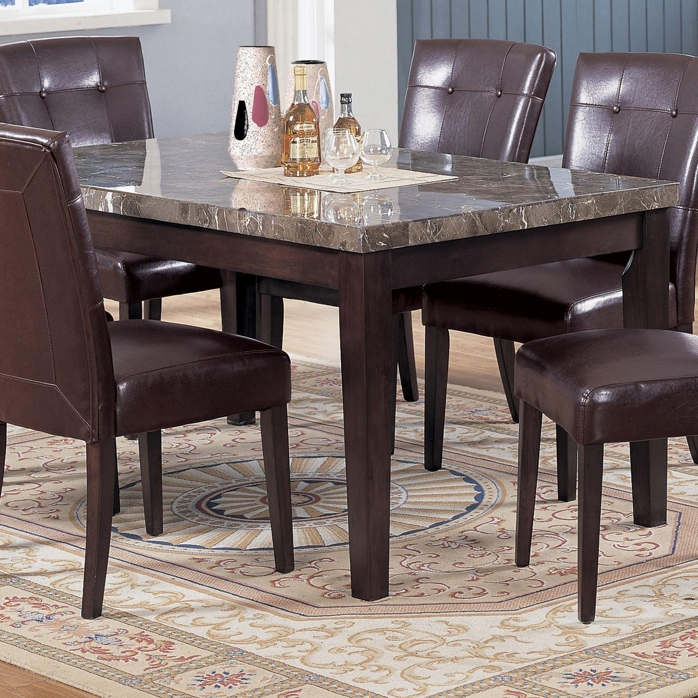 acme furniture 7058 rectangular dining table with black marble top dream home furniture. Black Bedroom Furniture Sets. Home Design Ideas