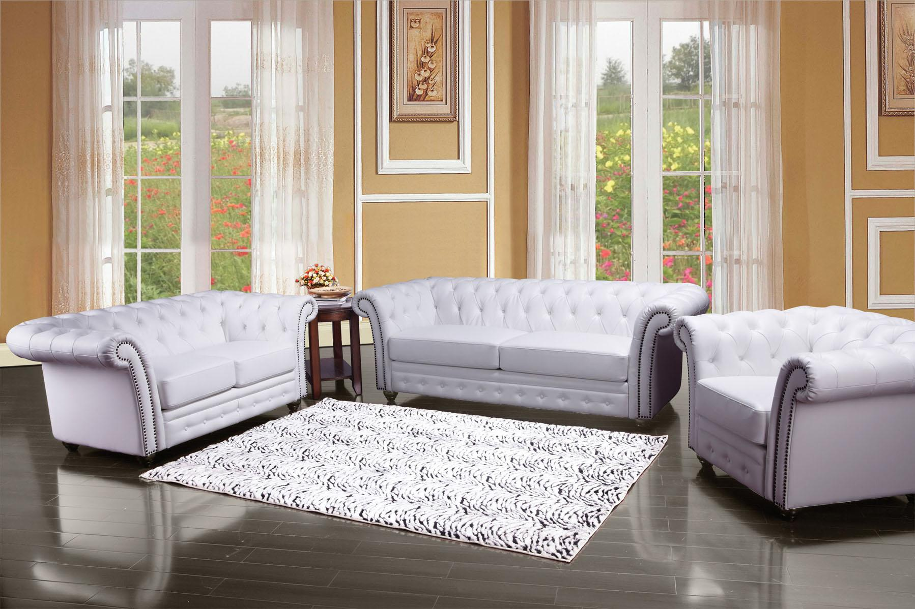 Acme Furniture Camden 50165 Traditional Tufted Sofa With Rolled Back And Nailhead Trim Del Sol