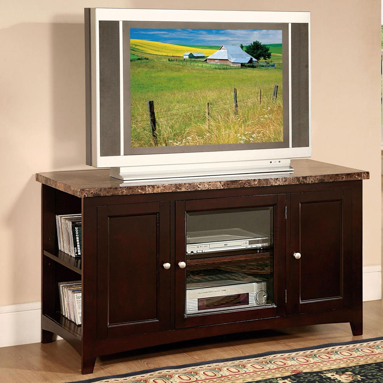 Acme Furniture Finely 91002 Tv Stand With Faux Marble Top And 3 Doors Del Sol Furniture Tv