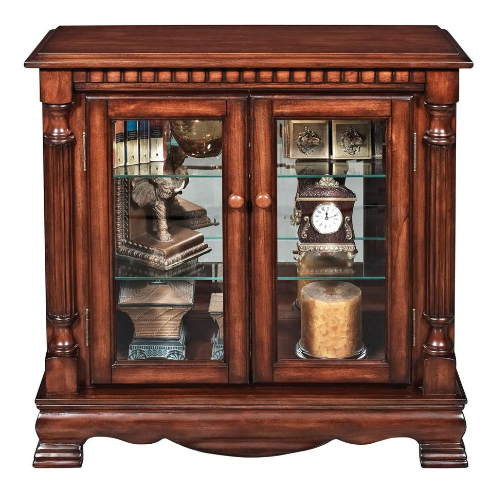 Acme furniture gilby 91086 2 door curio cabinet with for Acme kitchen cabinets
