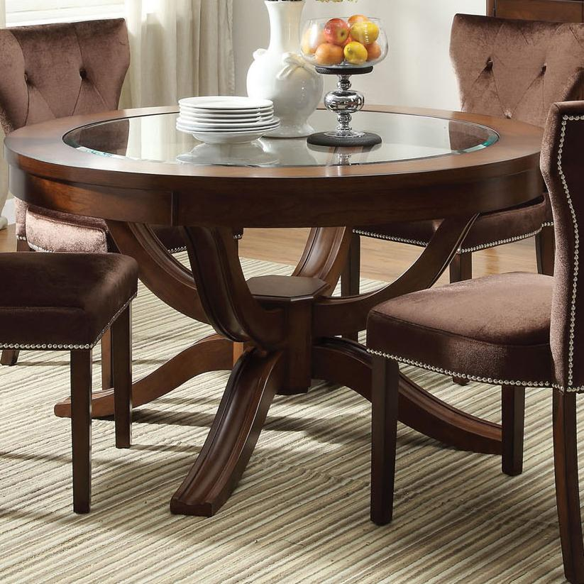 Acme furniture kingston 60022 round transitional formal for Formal dining table