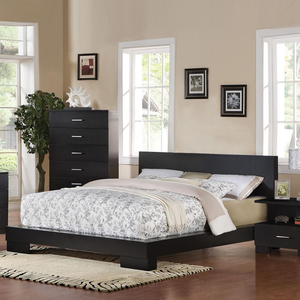 Acme Furniture London Contemporary Platform Queen Bed Dream Home Furniture Platform Beds Low