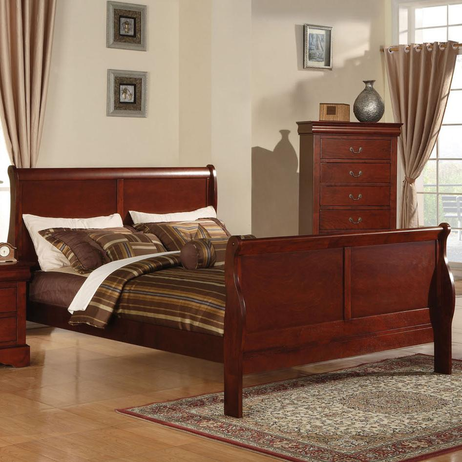 Acme Furniture Louis Philippe Iii 19517ek King Transitional Sleigh Bed Del Sol Furniture