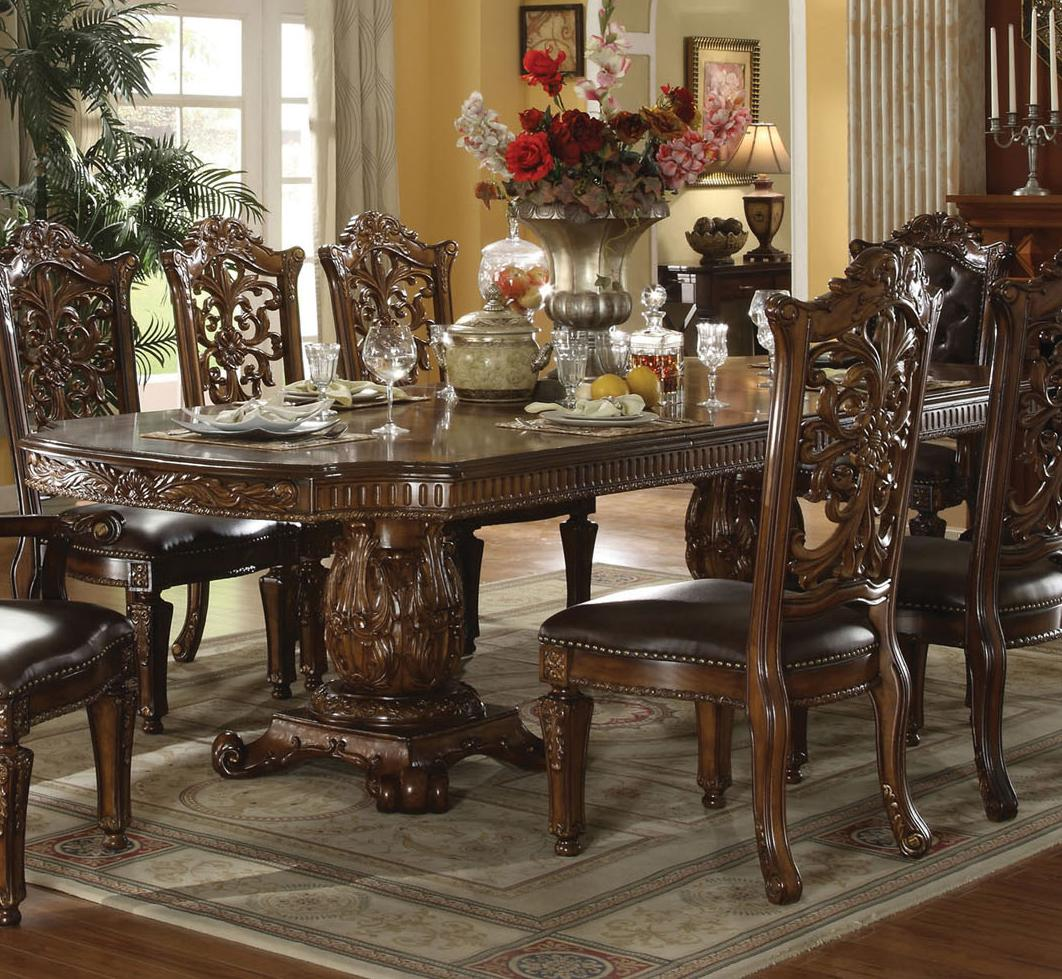 Acme furniture vendome 60000 traditional formal dining for Classic dining room furniture