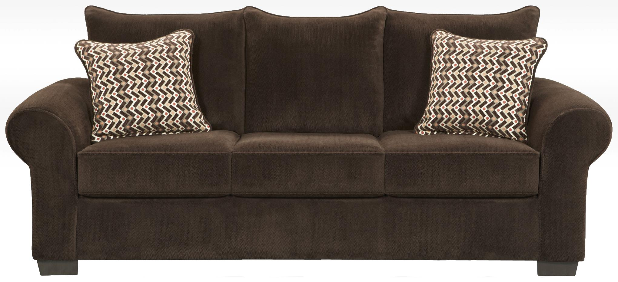 Contemporary sofa with large rolled arms 7300 by for Affordable furniture number