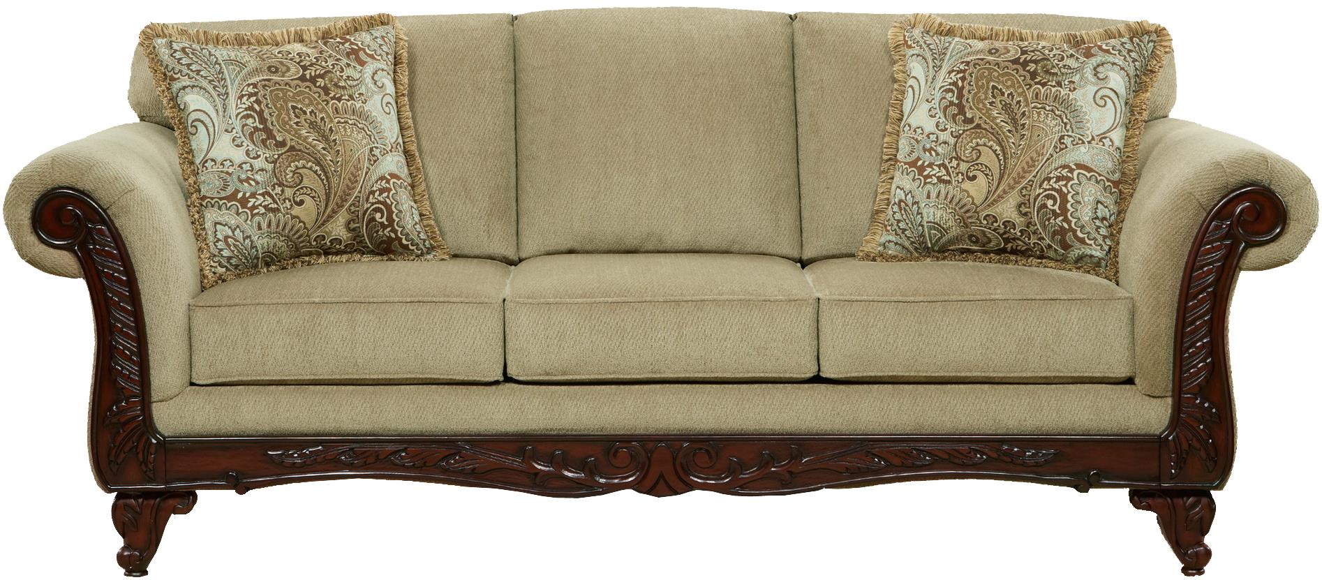 Traditional sofa venice sofa traditional sofas by meridian for Traditional sofas and loveseats