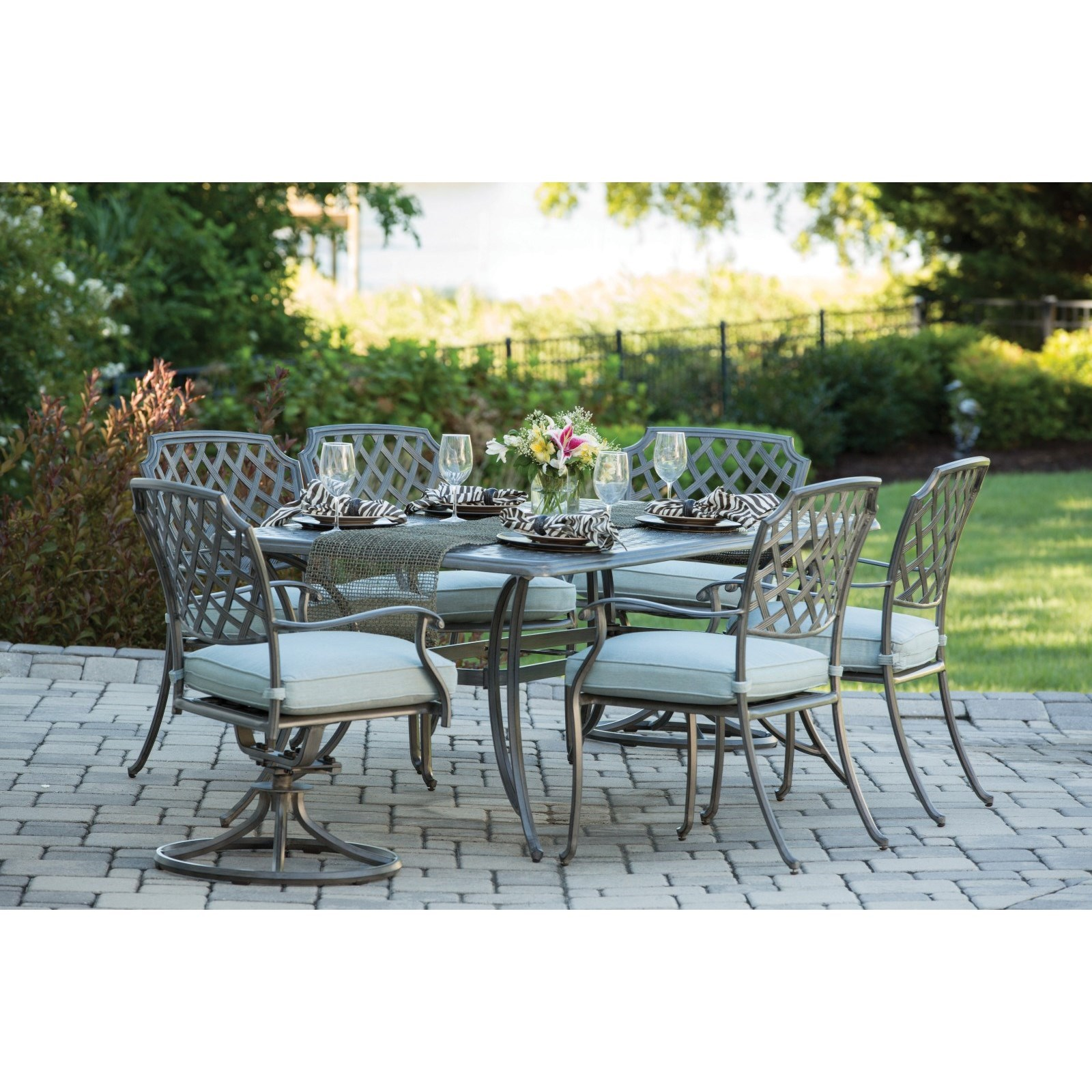 Alfresco Melbourne Outdoor Dining Set with 6 SeatsBelfort