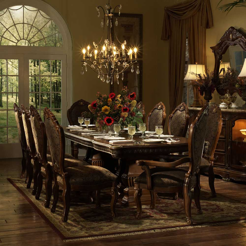 dining room furniture dining room table michael amini cortina dining