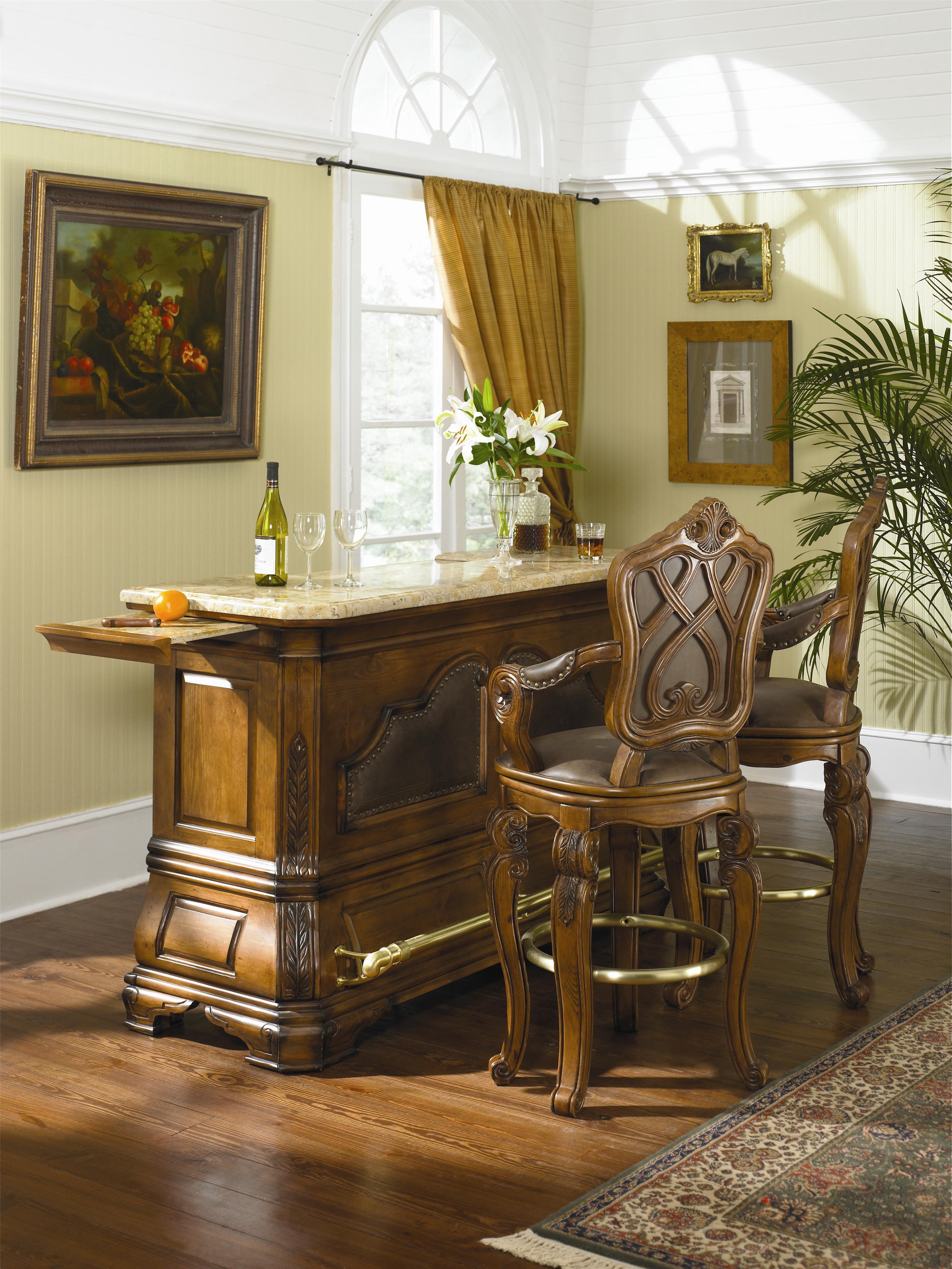 Michael Amini Tuscano Biscotti Bar W Marble Top And Corian Cutting Area Nassau Furniture Bars