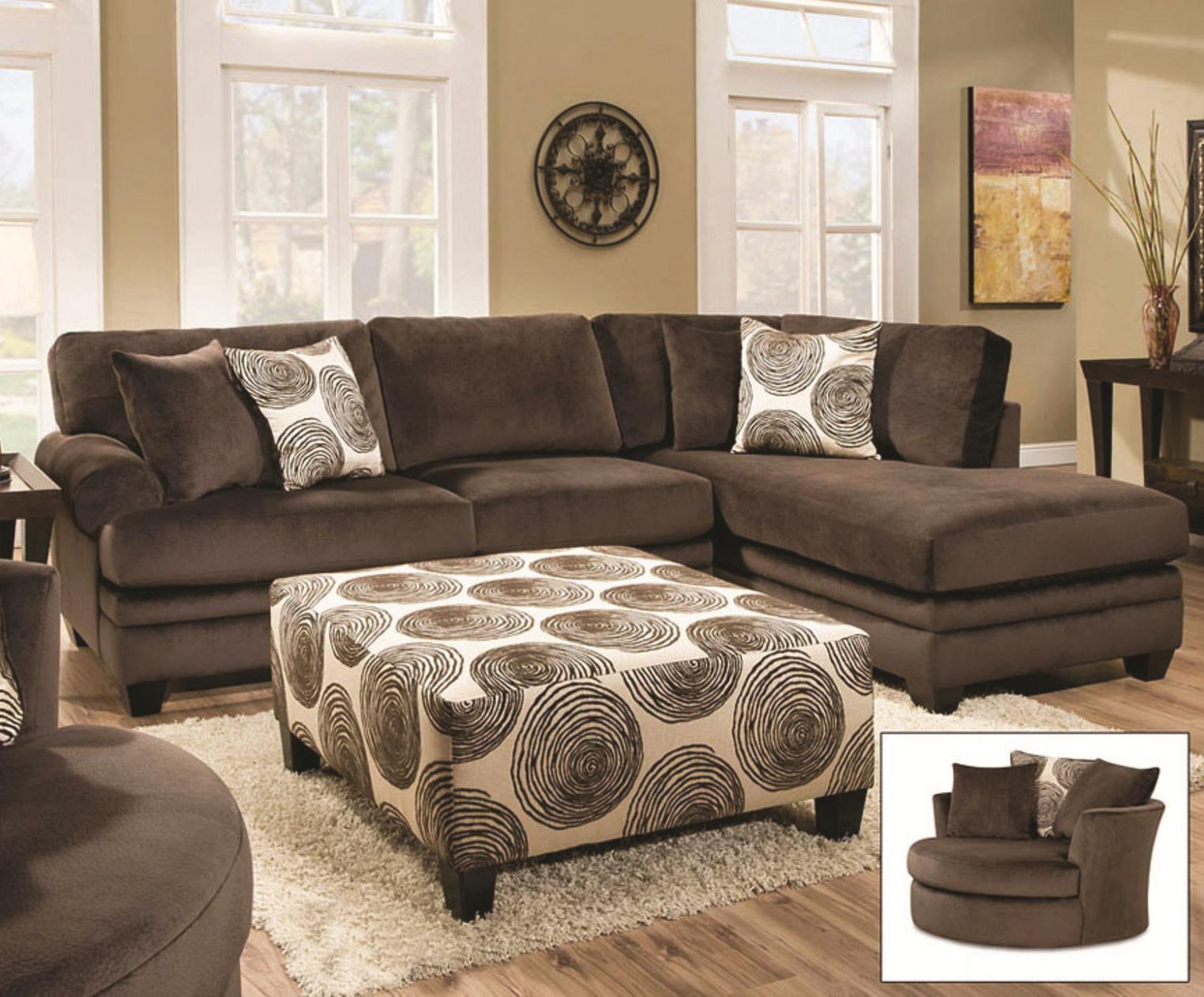 Albany 8642 transitional sectional sofa with chaise van for Classic furniture new albany in