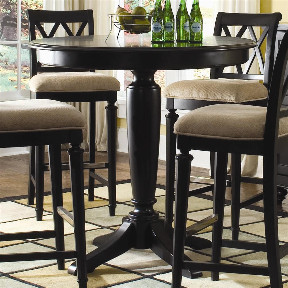 American Drew Camden Dark Bar Height Gathering Table Jacksonville Furniture Mart Pub Tables