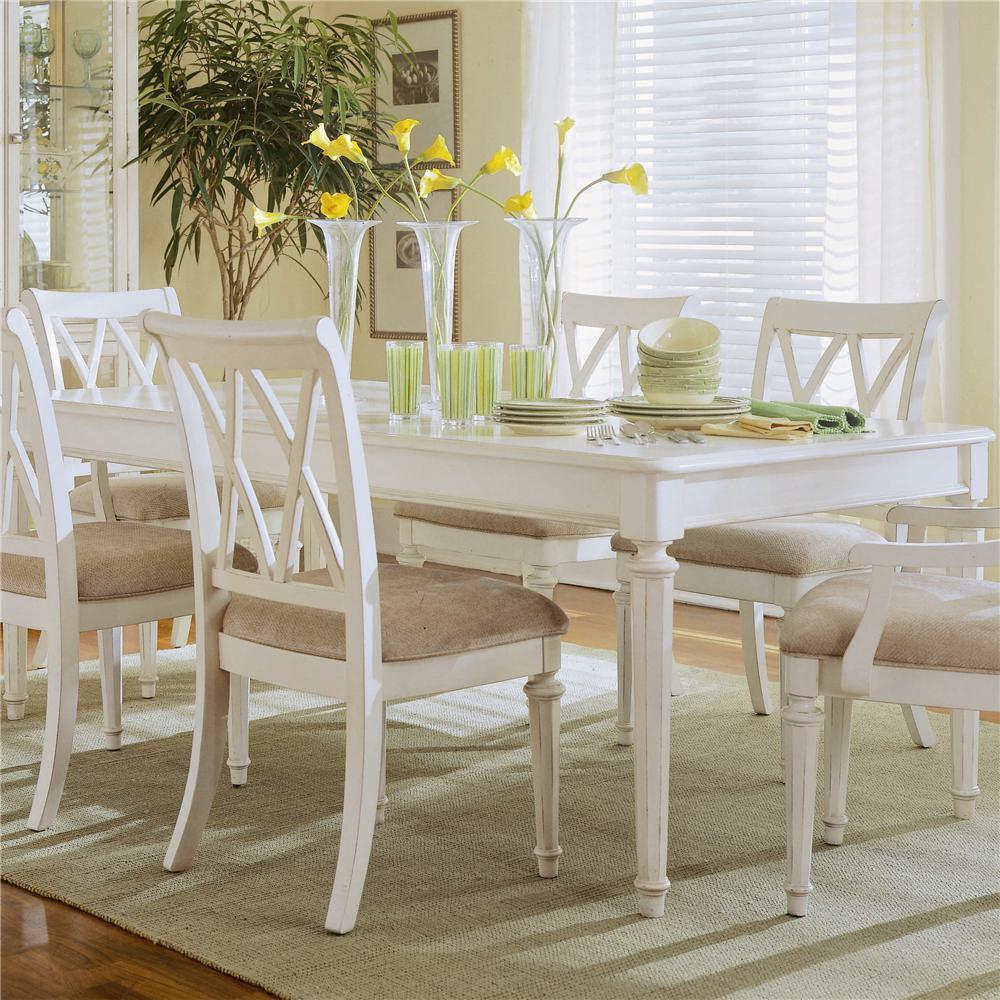 american drew camden light rectangular leg table jacksonville furniture mart dining tables. Black Bedroom Furniture Sets. Home Design Ideas