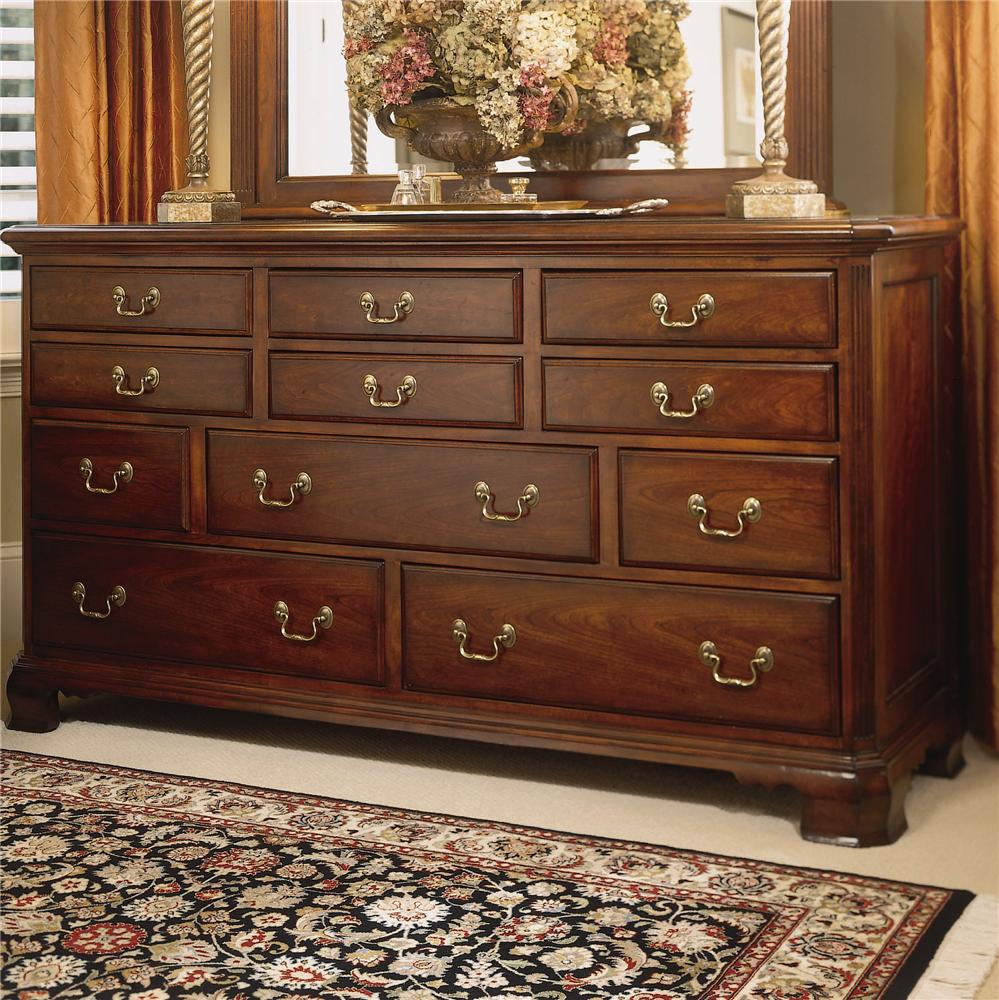 American drew cherry grove 45th triple dresser with 11 for American drew bedroom furniture cherry grove