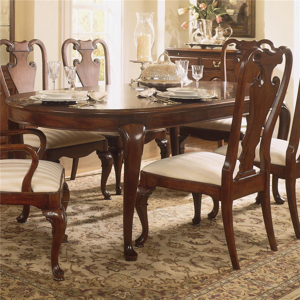 American drew cherry grove 45th traditional oval dining for Cherry dining room chairs