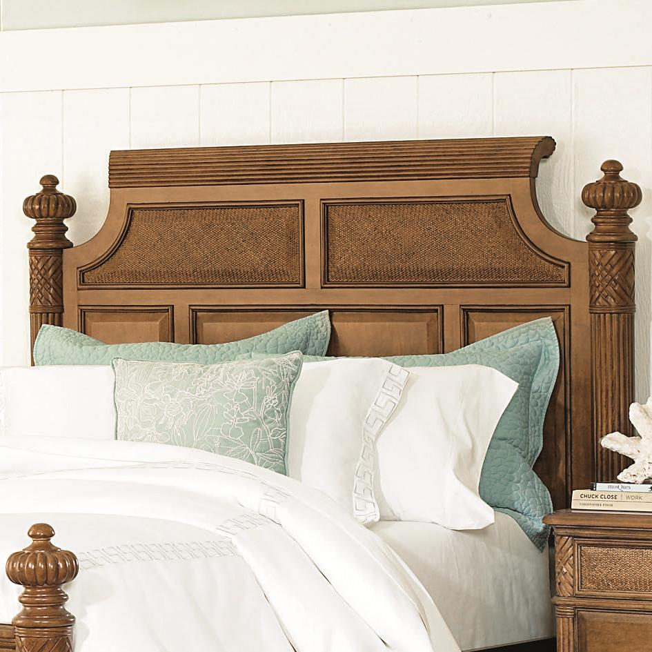 Grand isle queen size woven panel island headboard with for Queen size headboard