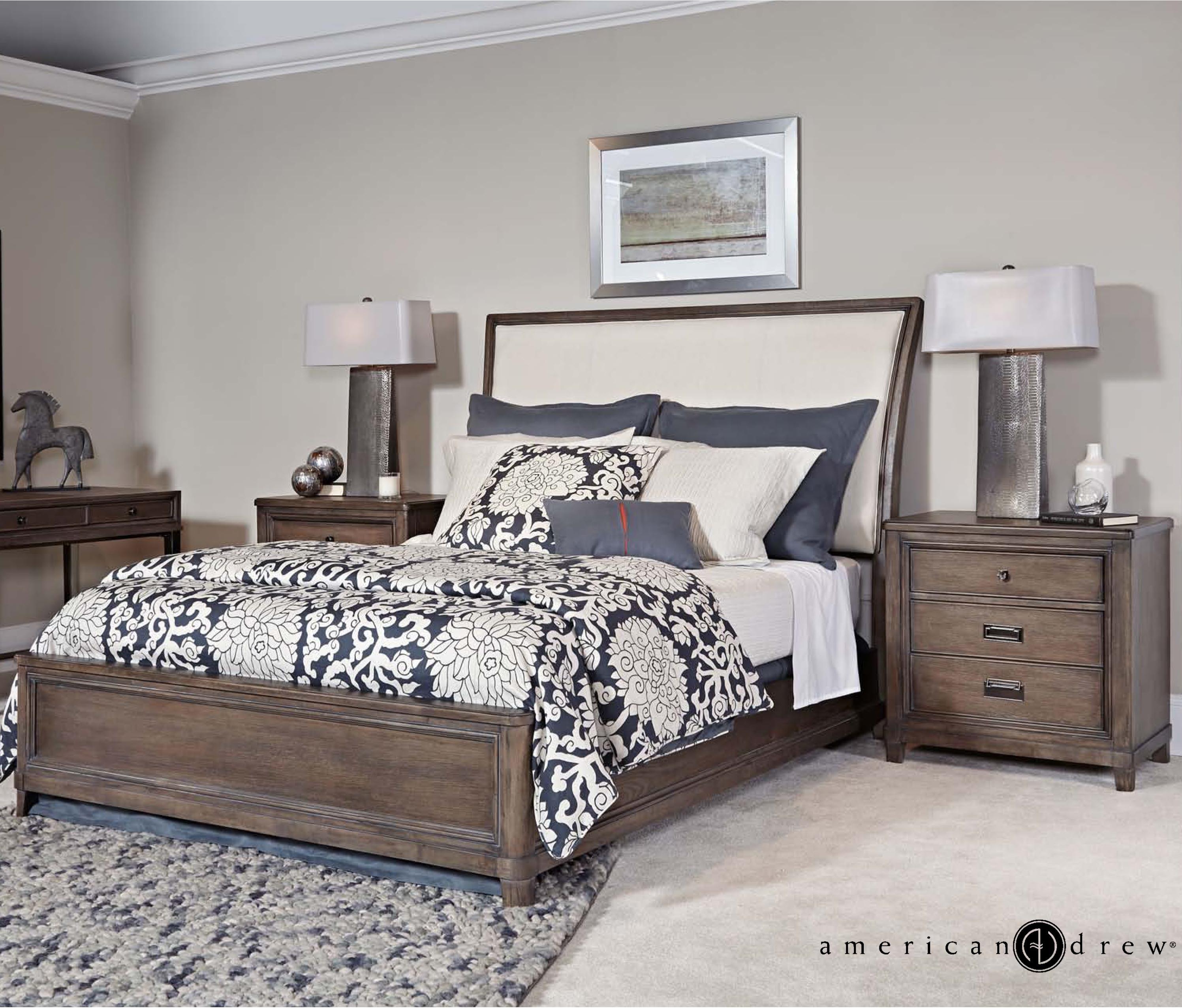 American drew park studio king bedroom group hudson 39 s for American furniture king bedroom sets