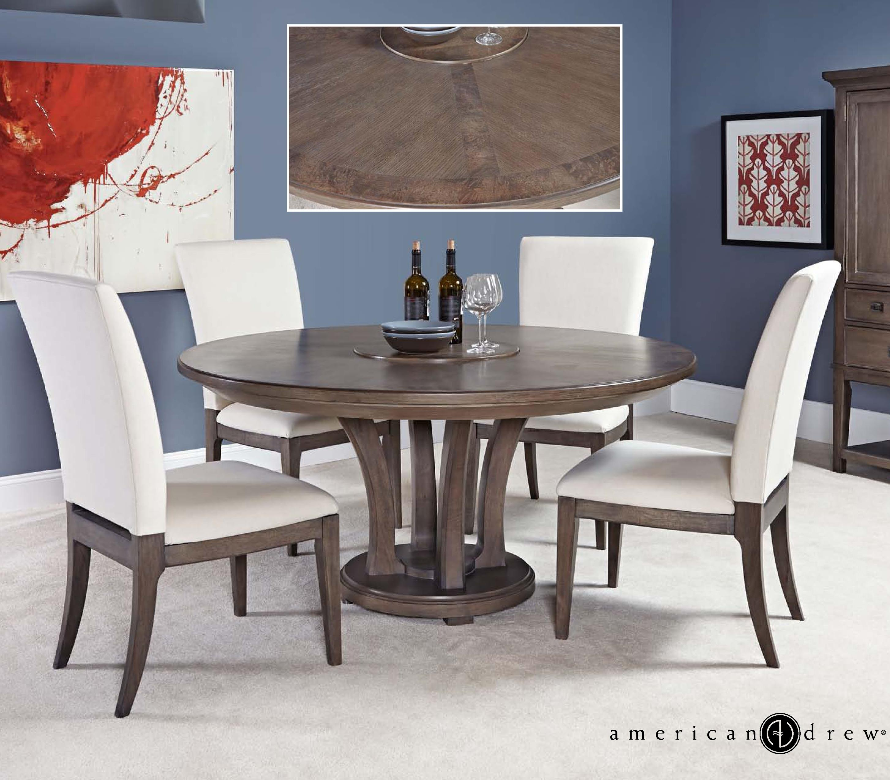 """Formal Dining Room Table And Chairs By American Drew Ebth: American Drew Park Studio Modern 5 Piece 60"""" Dining Room"""