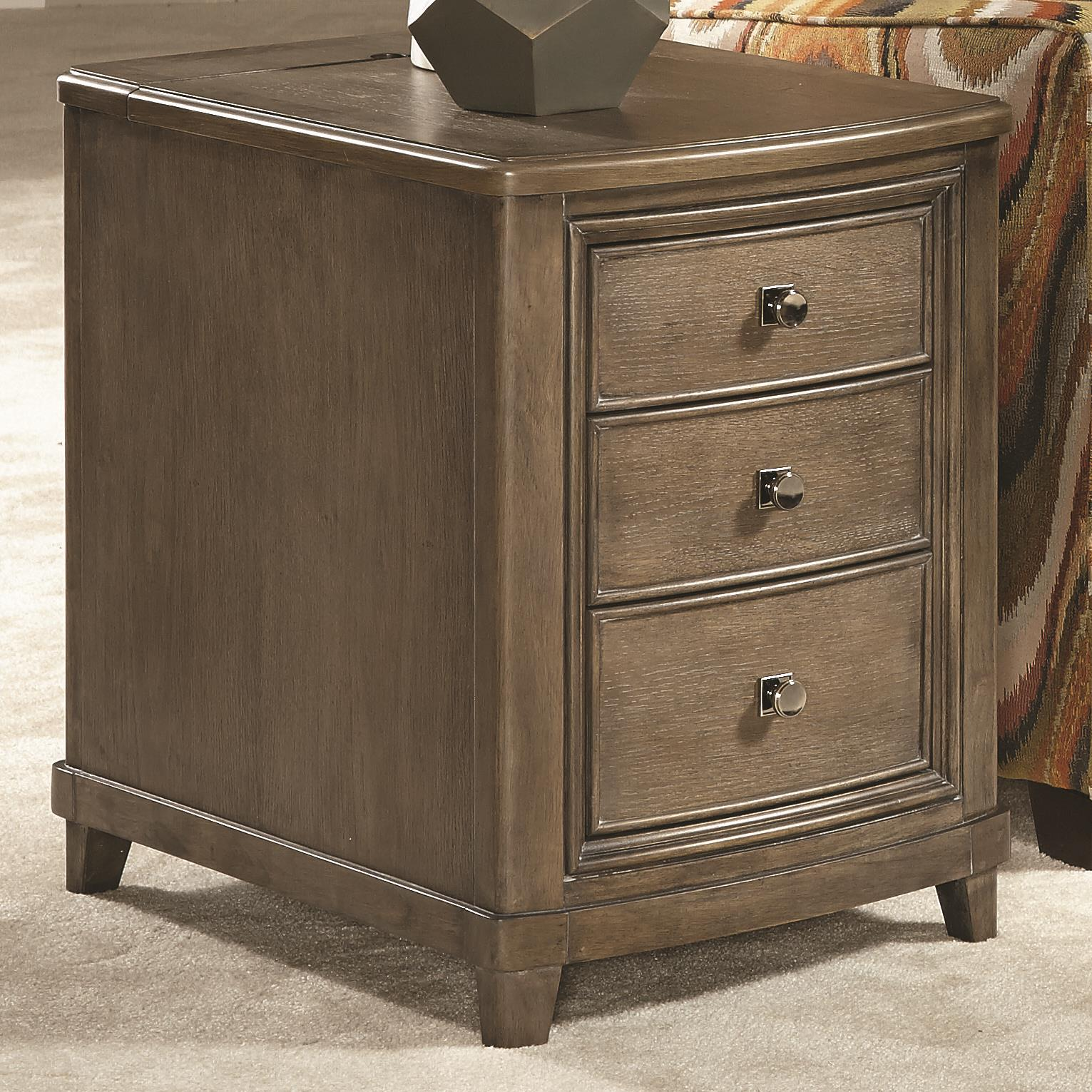 American Drew Park Studio Chairside Table with 3 Drawers